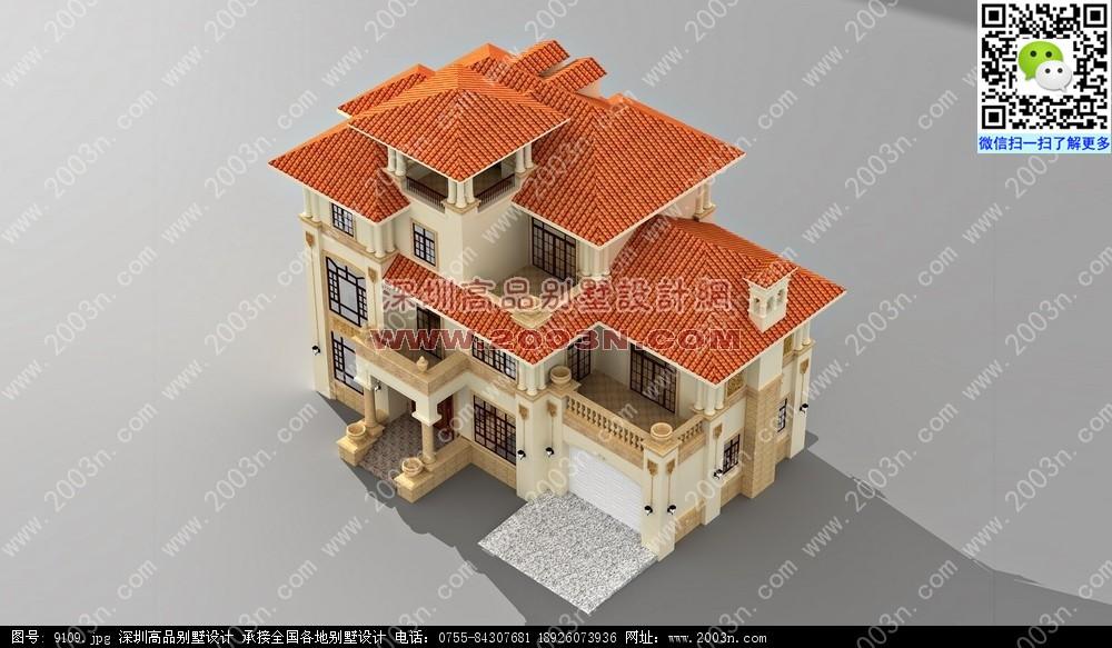 乡村别墅建筑设计图 农村别墅外观效果图 百年 农村